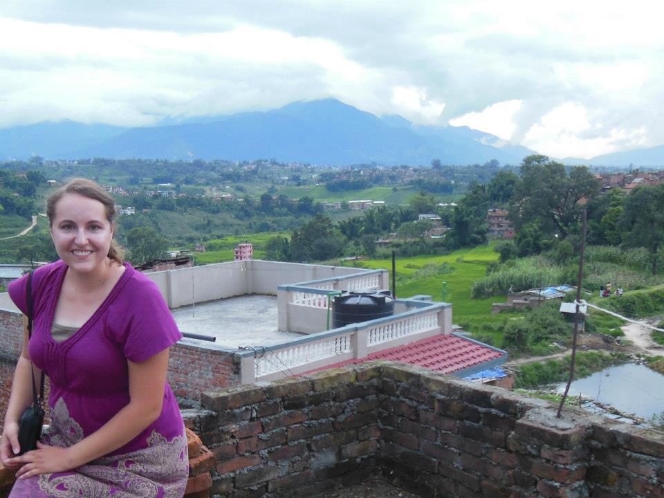 On a rooftop in Nepal, 2012.
