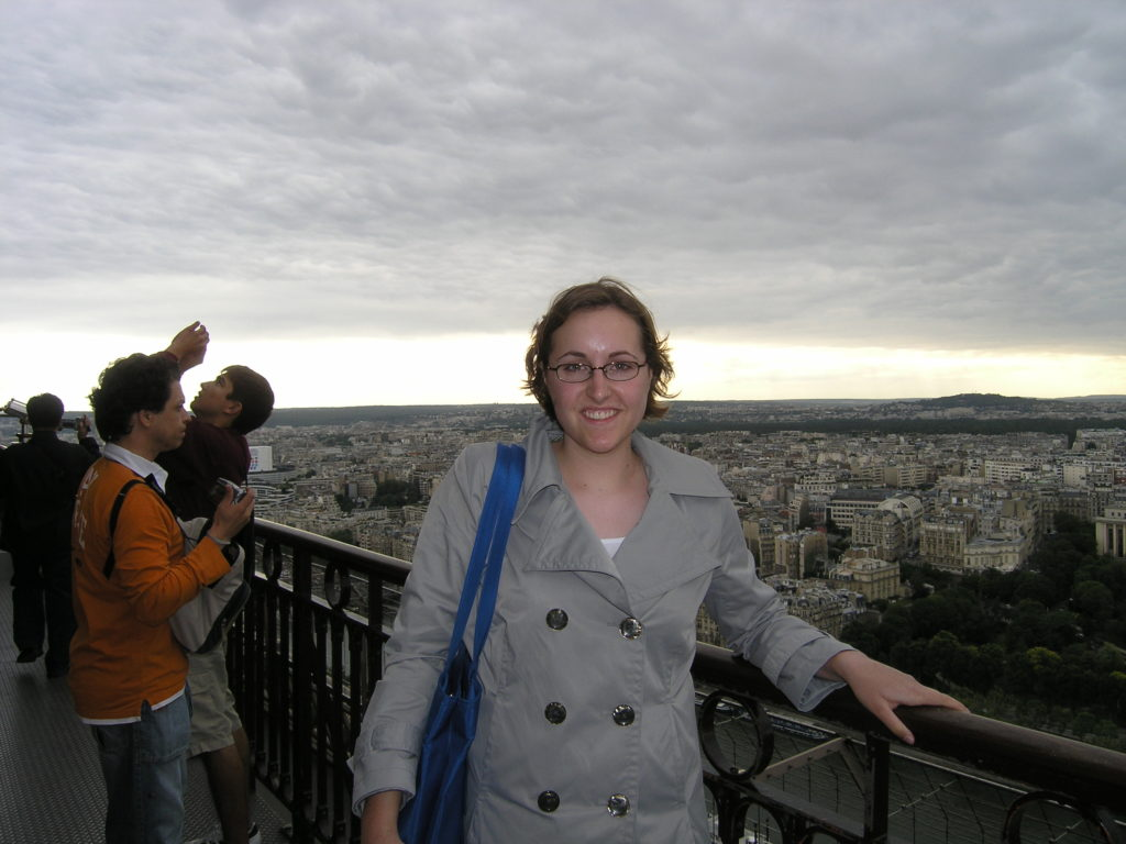 Me on top of the Eiffel Tower in 2007.
